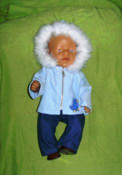 Doll's sky blue cord hoody