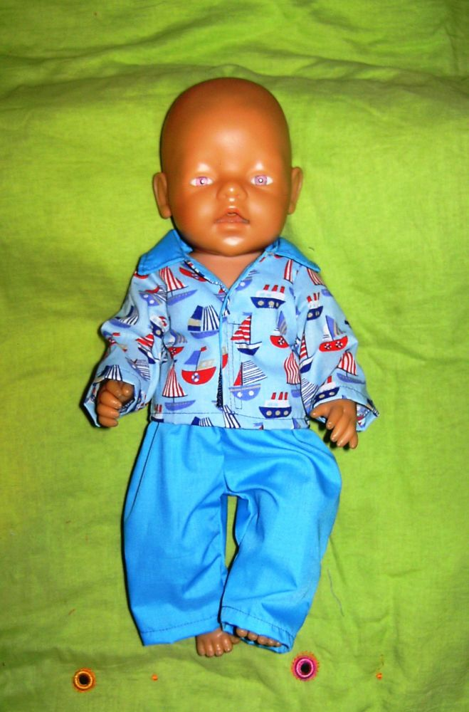 Doll's pajamas to fit Baby Born boy