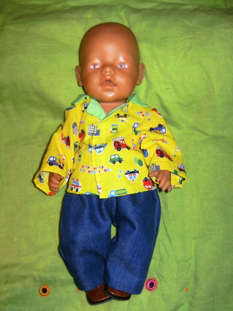Doll's shirt and jeans to fit Baby Born Boy