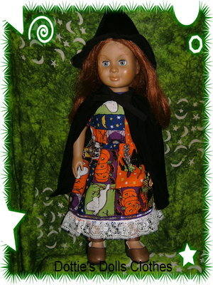 Dolls Halloween Witch outfit to fit American girl