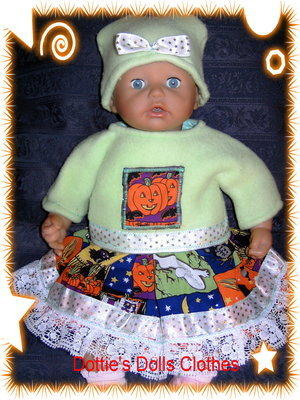 <!--01-->Dolls Halloween outfit to fit Annabell and most 18