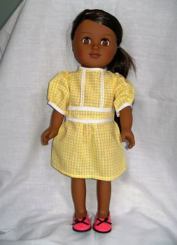 School dress for the18 inch high Sindy doll and most 18 inch girl dolls