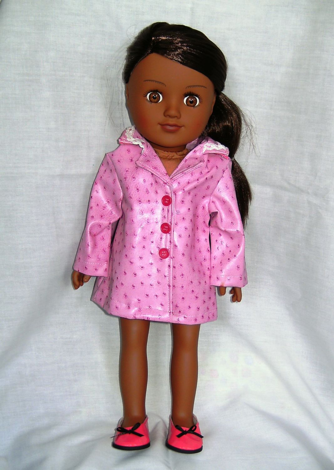 Dolls raincoat to fit American girl and most 18 inch girl dolls