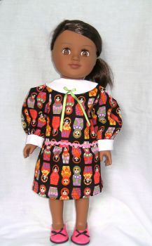 Dolls Dress made to fit the 18 inch high Sindy doll and most 18 inch girl dolls