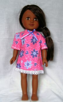 Dolls Nightdress made for the 18 inch high Sindy and most 18 inch girl dolls