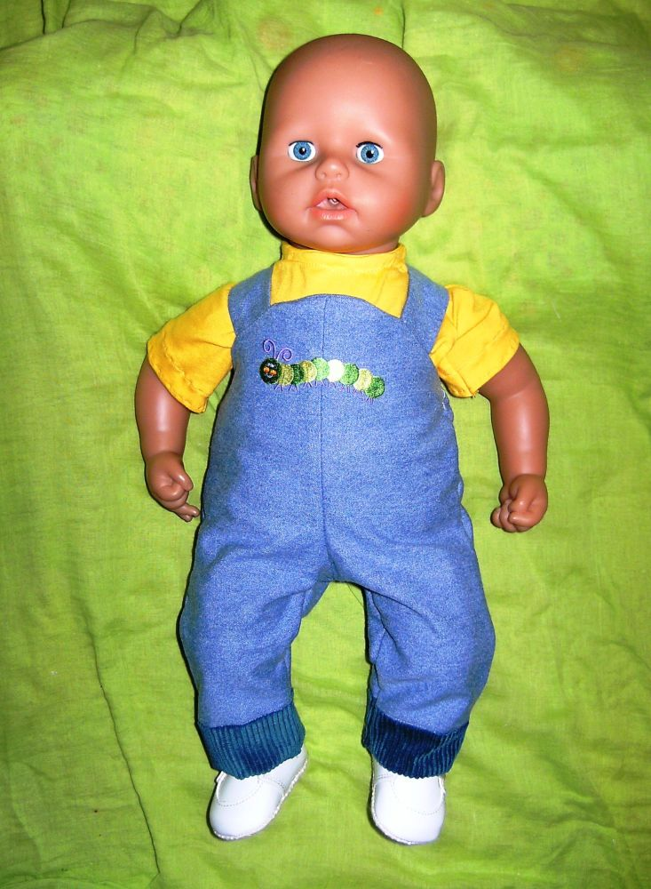 Doll's dungarees and T shirt