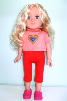 Doll's capri pants and tee shirt for 18 inch Sindy