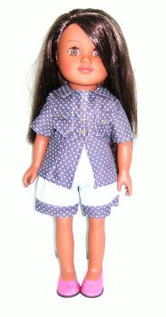 Doll's shorts and shirt set to fit 18 inch Sindy doll