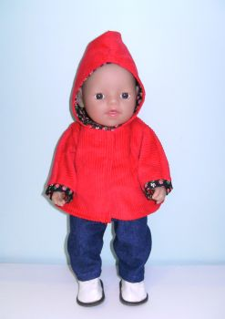 Doll's jacket and jeans set made for 12 inch high baby dolls