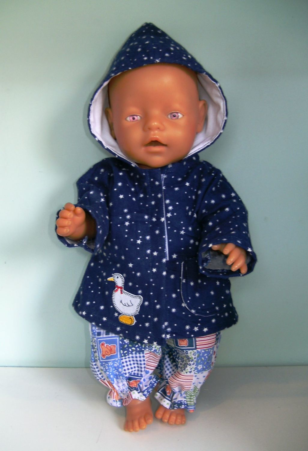 Doll's star print bathrobe