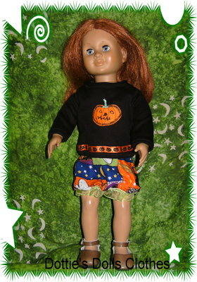 Halloween skirt and top to fit American Girl