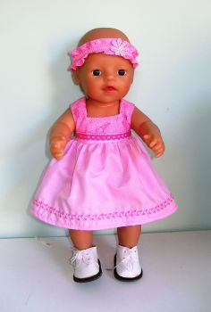 Doll's sun dress and alice band