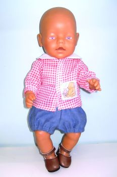 Doll's rompers and shirt