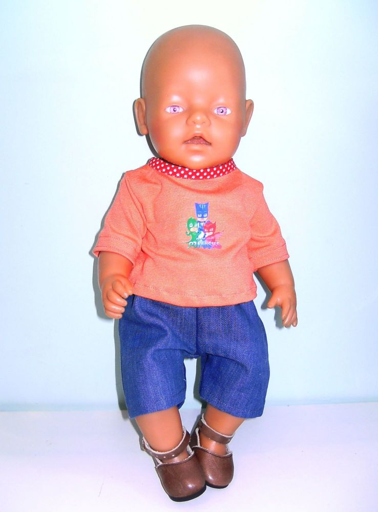 Doll's short and tee to fit Baby Born Boy