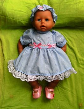 Doll's dress and alice band to fit Baby Annabell