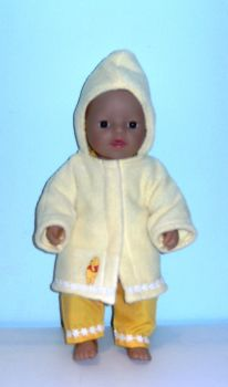 Doll's bathrobe for 12 inch high baby dolls