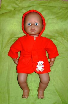 Bathrobe made for the 18 inch high baby George doll
