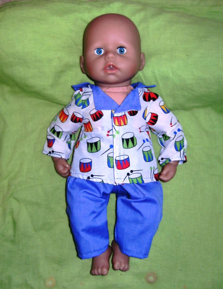Doll's pajamas for Baby George doll