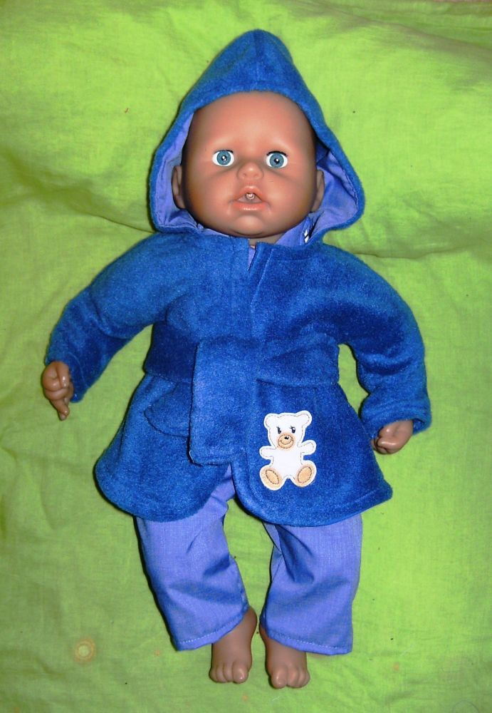 Doll's bathrobe made to fit Baby George doll