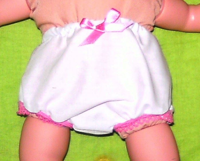 Panties to fit 12 inch baby dolls and 18 inch high Sindy doll and freinds