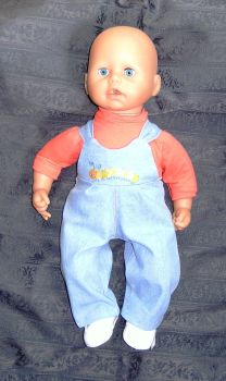 Doll's dungarees and tee shirt to fit 18 inch high George doll