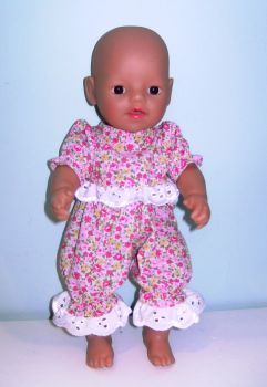 Doll's pajamas/playsuit