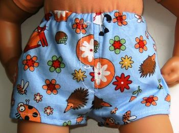Doll's Jockey shorts made to fit the 18 inch high George doll