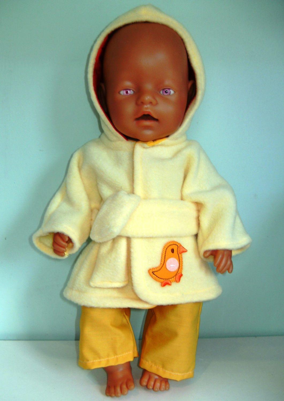 Doll's bathrobe for Baby Born boy and most 16 inch high baby boy dolls