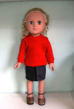 Doll's school uniform to fit 18 inch high Sindy and American Girl dolls