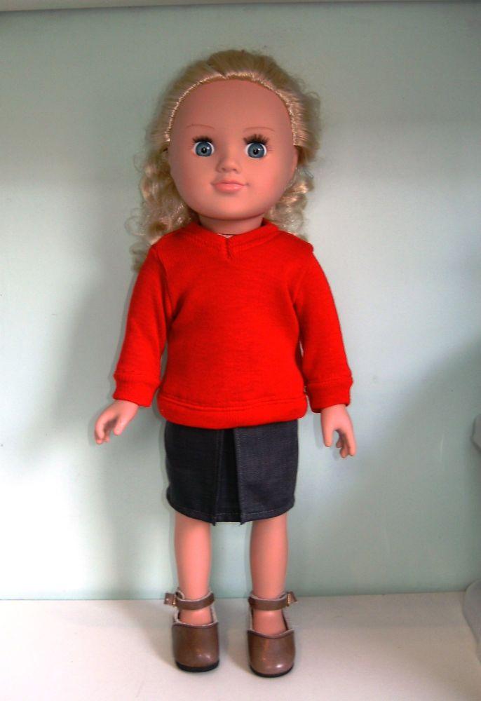 Doll's school uniform to fit 18 inch high Sindy