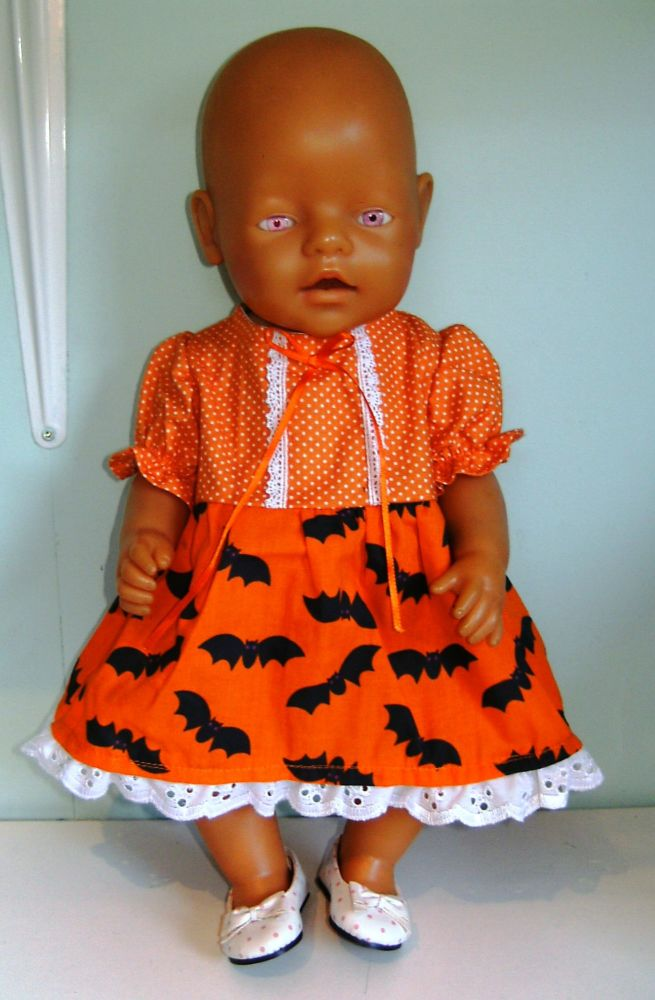 Doll's Halloween print dress to fit Baby Born Girl doll