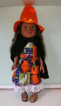 Doll's Halloween outfit made to fit American Girl doll and 18 inch high Sindy doll