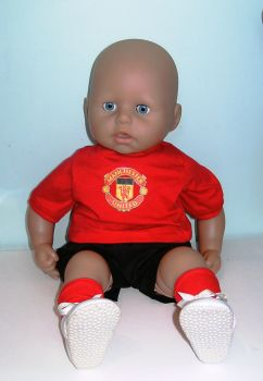 Doll's Manchester United outfit made to fit the 18 inch high George doll