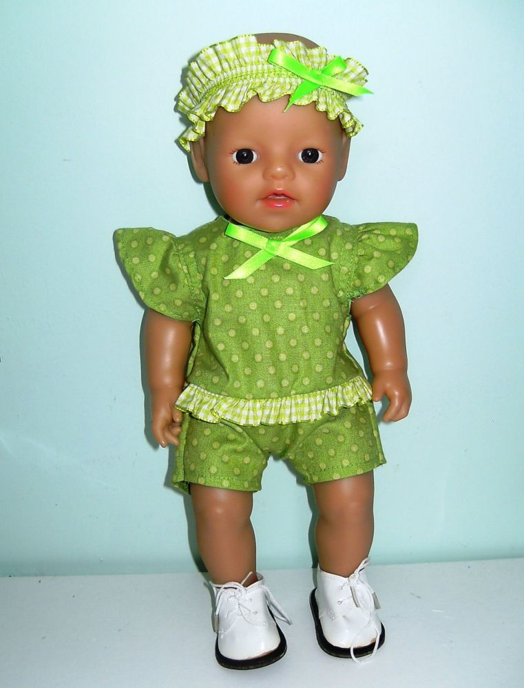 Doll's playsuit made to fit a 12 inch high baby doll