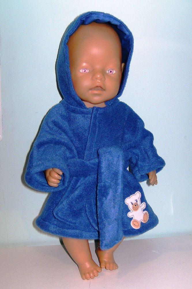 Doll's bathrobe made for Baby Born Boy