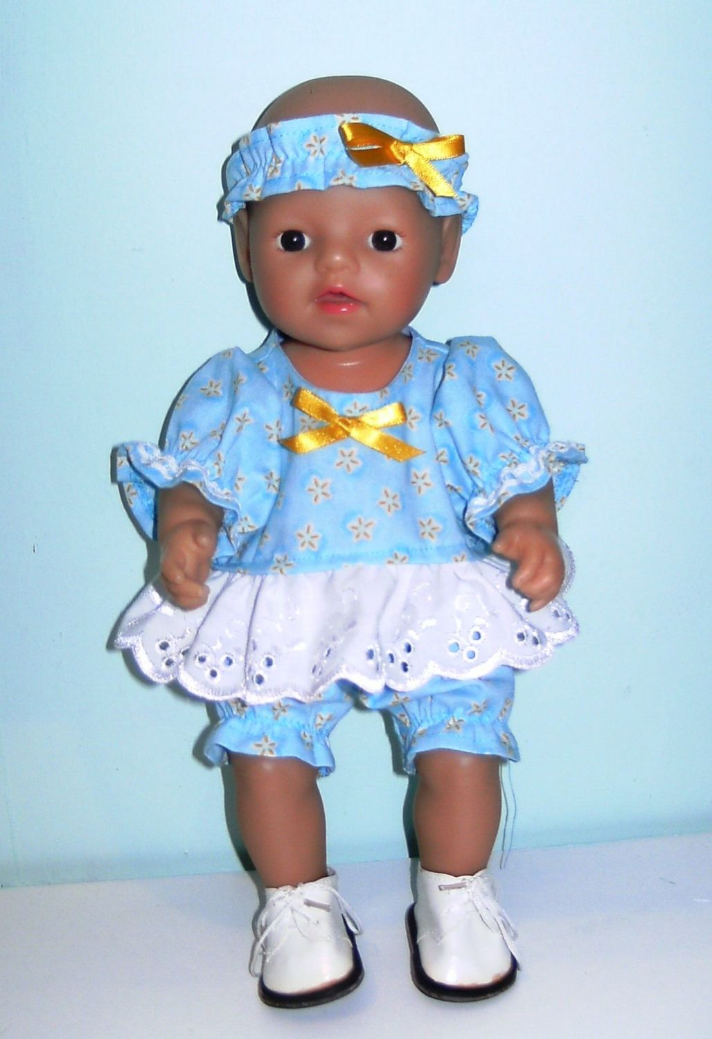 Doll's romper suit for 12 inch high baby girl doll