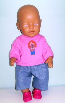 Doll's romper set made for most 16 inch high baby dolls