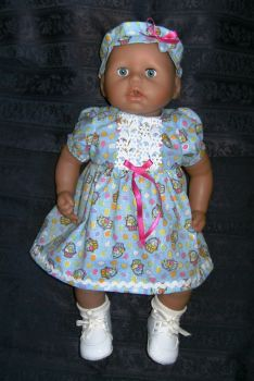 Doll's dress to fit a 18 inch high Annabell doll
