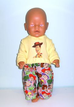 Doll's pajamas to fit Baby Born Boy doll