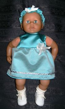 Doll's party dress to fit Annabell and 18 inch high baby dolls