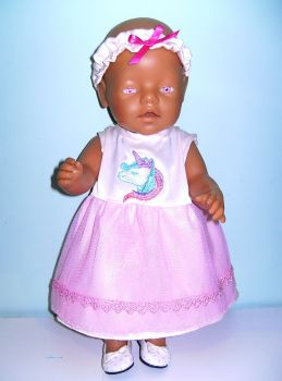 Doll's party dress to fit 16 inch high baby dolls