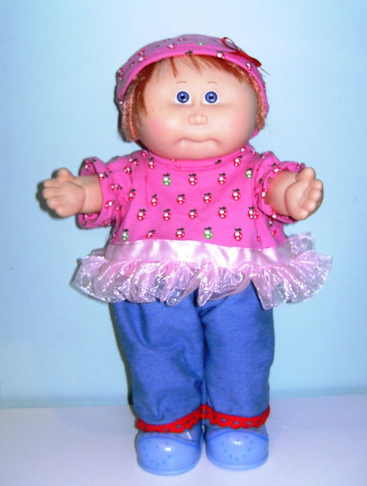 Doll's jeans and top made to fit Cabbage patch dolls