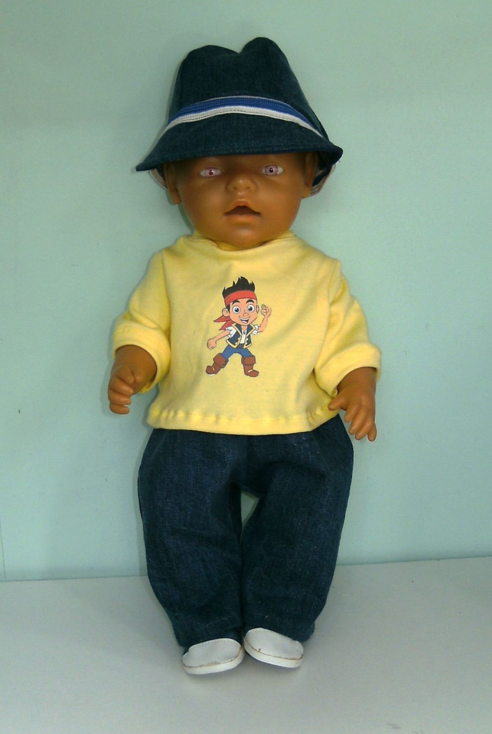 Doll's jeans outfit to fit Baby Born Boy doll