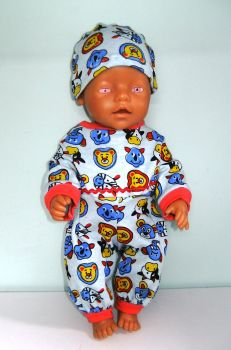 Doll's All-in- one made to fit Baby Born Boy and most 16 inc high baby dolls