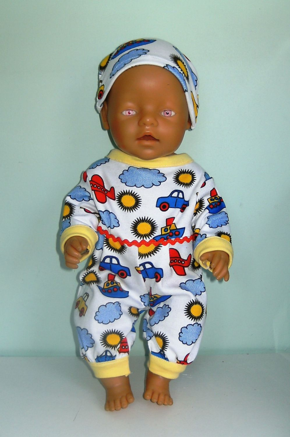 Doll's sleepsuit/playsuit made to fit a 16 inch high baby doll