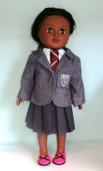 Doll's Mailda School uniform for 18 inch high girl doll