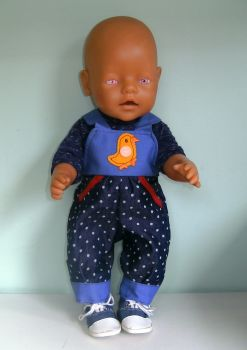Doll's romperdungarees set to fit Baby Born Boy doll
