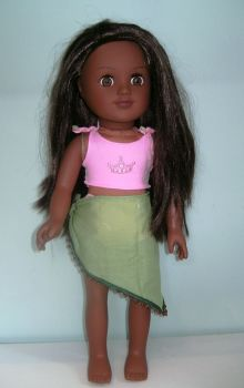 Doll's bikini and sarong made to fit My Generation dolls and most 18 inch high girl dolls