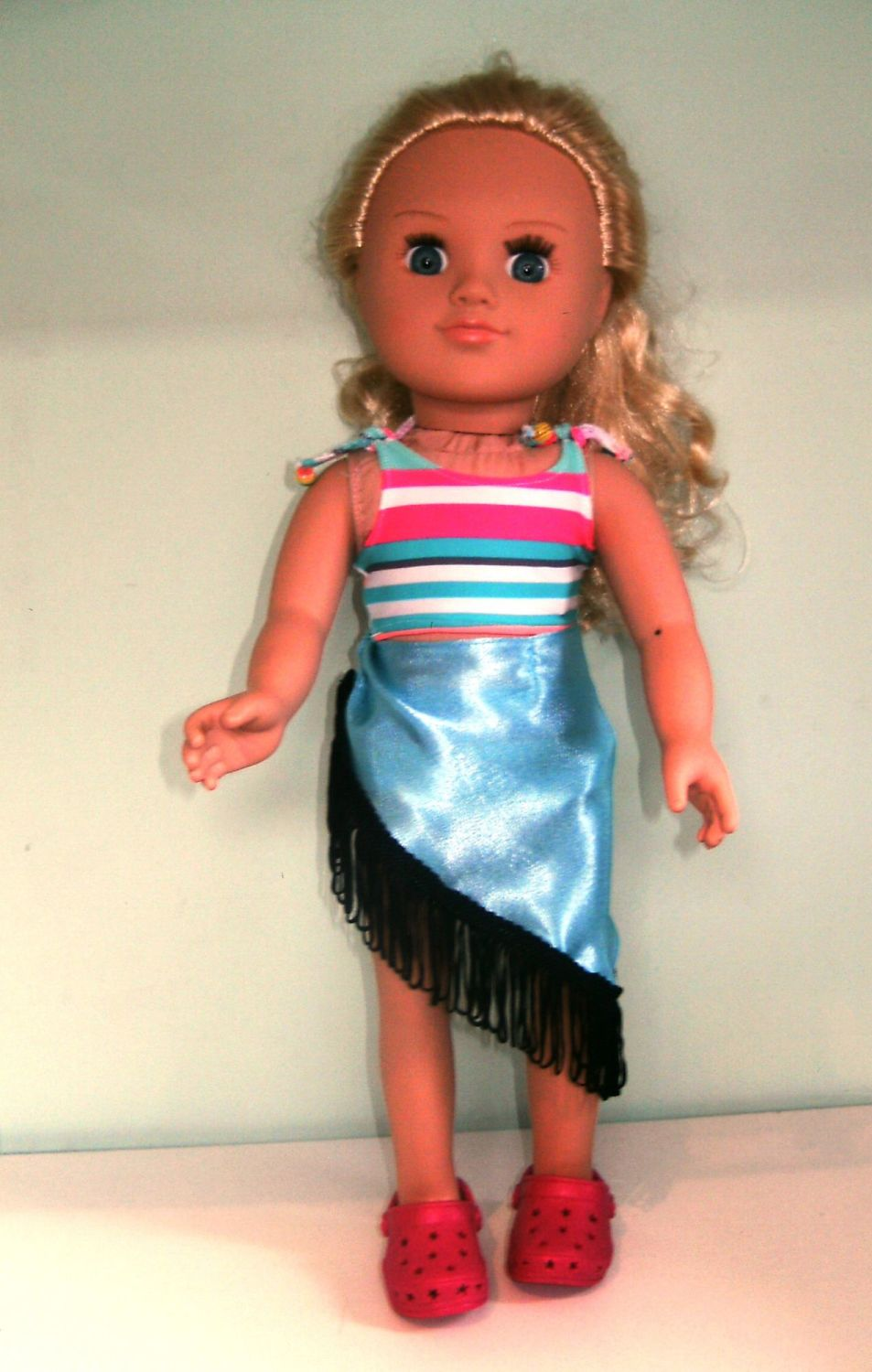 Doll's bikini and sarong made to fit My Generation dolls and most 18 inch h
