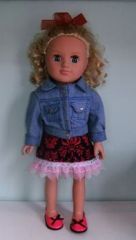 Doll's denim jacket and skirt to fit My Generation doll and most 18 inch high baby dolls